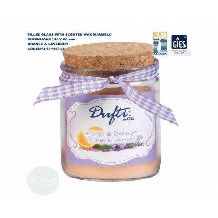 شمع عطری 3 عددی گیس مدل مارملو با رایحه پرتقال و لوندر