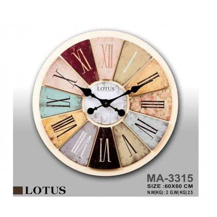 ساعت دیواری لوتوس مدل MA-3315
