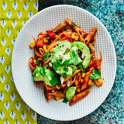 How we can make mexican pasta with avocado